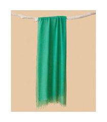 lenço em modal - lenço índia cor: verde - tamanho: único