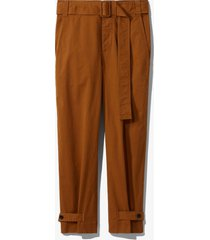 proenza schouler white label cotton belted pants fatigue/green 6