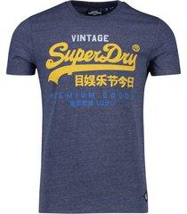 superdry t-shirt navy gemeleerd