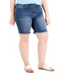 dollhouse trendy plus size denim bermuda shorts