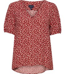 d2. summer floral blouse blouses short-sleeved rood gant