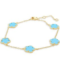 jan-kou women's clover mop 14k goldplated bracelet