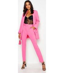 tall getailleerde broek met ceintuur, hot pink