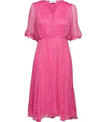 cecilia long dress jurk knielengte roze storm & marie