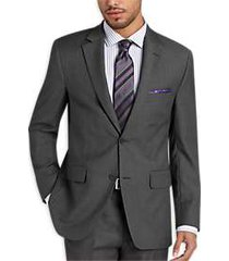 pronto uomo gray modern fit suit