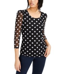 inc petite dot-print top, created for macy's