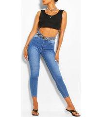 stretch skinny jeans, lichtblauw