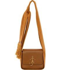 jw anderson anchor scarf crossbody bag - brown