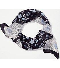 loft border floral square scarf