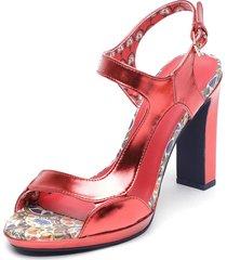 sandalia rojo desigual