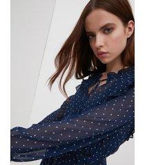 motivi vestito con stampa stelle donna blu