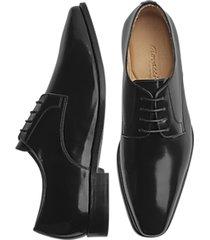 giovacchini tony black plain toe derby dress shoes