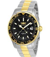 reloj invicta acero dorado modelo 258ae para hombres, colección pro diver