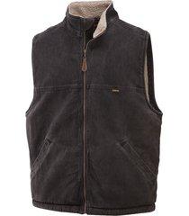 wolverine men's upland vest black, size s