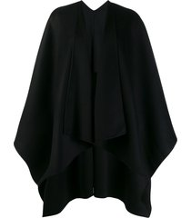 joseph oversized cape poncho - black