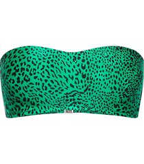 wild s bustier bandeau bikinitop groen seafolly