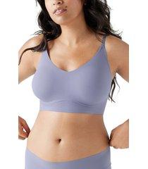true & co. true body lift triangle bra, size small in blue granite at nordstrom