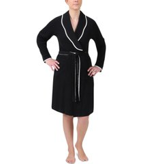 miss elaine knit short wrap robe
