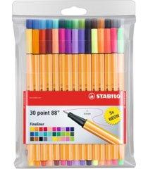 stabilo point 88 pen wallet set, 30 pieces