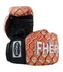 luva boxe top fheras - 14 oz cobra 3 .