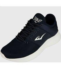 tenis lifestyle azul navy-blanco everlast propel