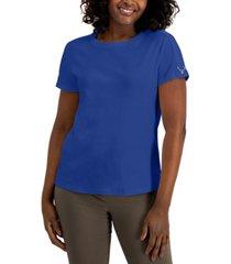 karen scott cotton buckle-sleeve top, created for macy's