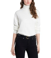 women's 1.state open back turtleneck sweater, size x-small - white