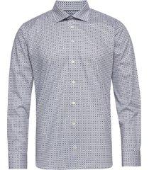beige medallions print shirt overhemd business multi/patroon eton