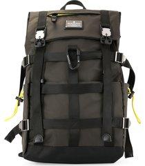 makavelic mesh work backpack - brown