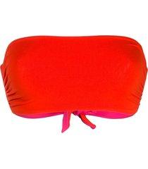fisico reversible bandeau swim top - red