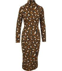 gcds leopard print midi dress