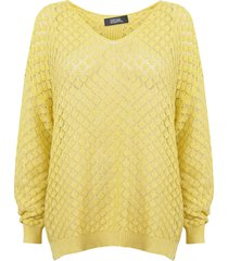 sweater nrg amarillo - calce holgado