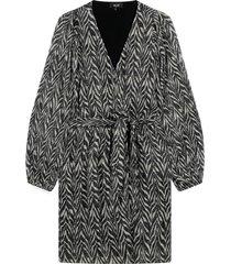zebra lurex jurk