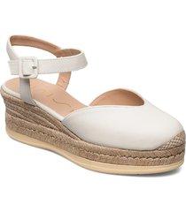 ceinos_cre sandalette med klack espadrilles vit unisa