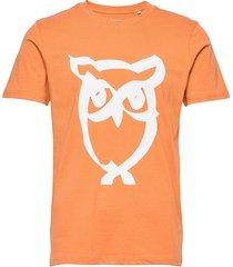 alder brused owl tee - gots/vegan t-shirts short-sleeved orange knowledge cotton apparel