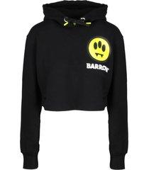barrow logo print crop hoodie