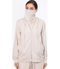 bam by betsy & adam zippered hoodie with removable mask, created for macy's