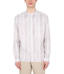 z zegna linen and cotton blend shirt