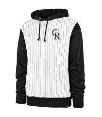 '47 brand colorado rockies men's pinstripe hoodie