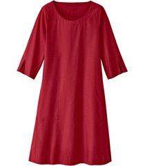 glad gesneden jurk in a-lijn van bio-katoen, kersen 40