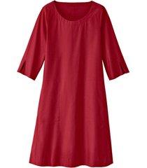 glad gesneden jurk in a-lijn van bio-katoen, kersen 46