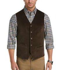 joseph abboud brown herringbone corduroy vest