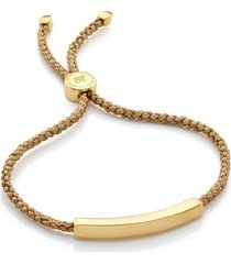 linear friendship bracelet, gold vermeil on silver