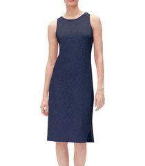vestido sin mangas midi mujer azul gap