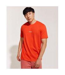 camiseta masculina pantone manga curta gola careca vermelha