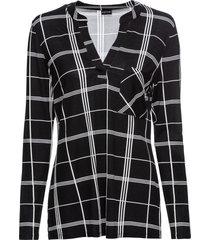 maglia a quadri con maniche lunghe (nero) - bodyflirt
