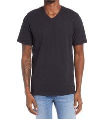 men's treasure & bond men's slub v-neck t-shirt, size xx-large - black