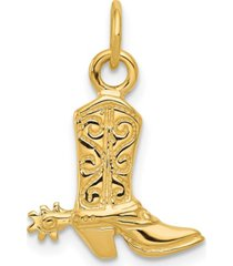 cowboy boot pendant in 14k yellow gold