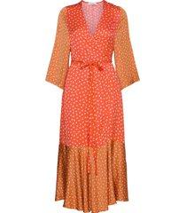 rodebjer millie jurk knielengte oranje rodebjer