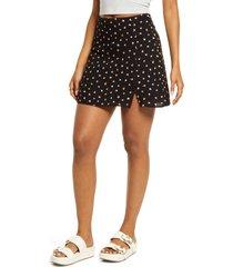 women's bp. print crepe skirt, size x-small - black